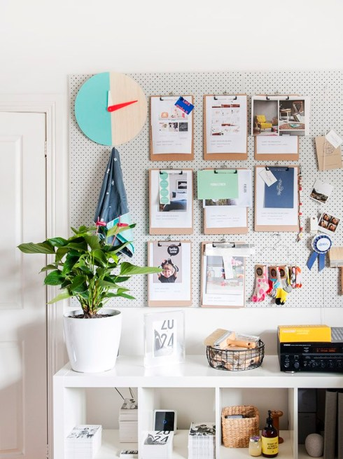 Workspace pegboard (pic by thedesignfiles.net)