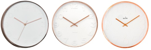 bmstores-301329-Copper-Wall-Clock-2 £4.99