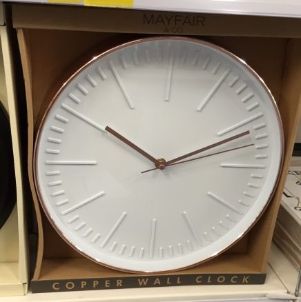 Copper clock £4.99 B&M Stores (boxed)