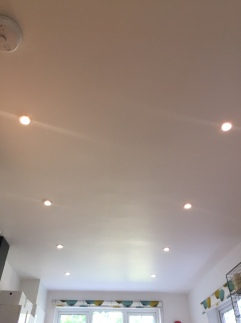 New ceiling lights on