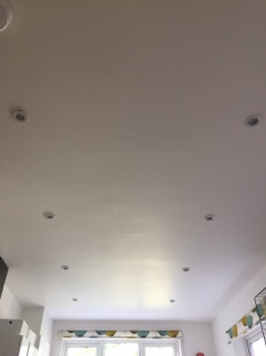 New ceiling lights off